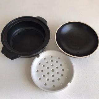 ムジルシリョウヒン(MUJI (無印良品))の難あり 無印 土鍋 蒸し皿付き(鍋/フライパン)
