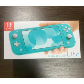 ニンテンドースイッチ(Nintendo Switch)の【新品未使用!保護シート付き!】Nintendo Switch lite(携帯用ゲーム機本体)