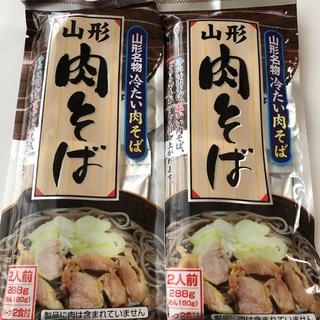 山形名物 冷たい肉そば2袋(麺類)