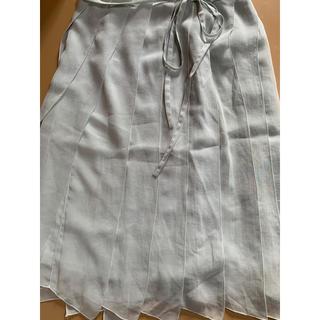 エフデ(ef-de)のef-deミントグリーンのスカート(ひざ丈スカート)