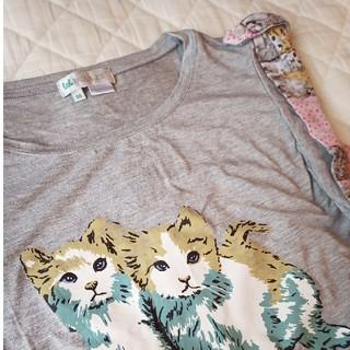 ポールアンドジョー(PAUL & JOE)の【little PAUL & JOE】ノースリーブカットソー◆猫プリント(Tシャツ/カットソー)