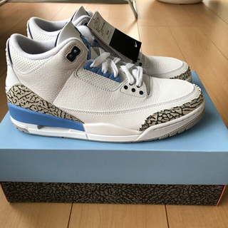 ナイキ(NIKE)のAIR JORDAN 3 RETRO UNC Valor Blue(スニーカー)