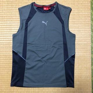PUMA - 【値下げ】PUMA ノースリーブ プラクティスシャツ Mサイズ グレー