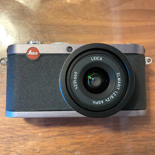 ライカ(LEICA)のLeica X1 スチールグレー レザーケース付き(コンパクトデジタルカメラ)