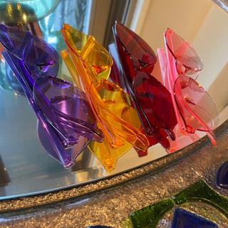 ゾフ(Zoff)の☍クリア眼鏡☍ レトロカラー 4色展開 ボストン型 透明 サングラス 即日発送(サングラス/メガネ)