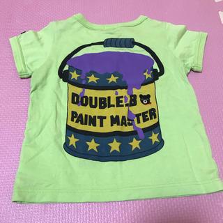 ダブルビー(DOUBLE.B)のDOUBLE.B Tシャツ 80 ライトグリーン ダブルビー 日本製 綿(Tシャツ)