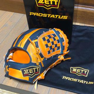 ゼット(ZETT)の源田モデル ZETT プロステ 軟式 内野手オーダーグラブ(グローブ)