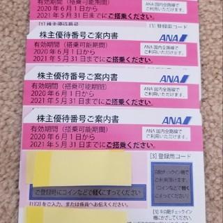 ANA(全日本空輸) - ANA株主優待券4枚 送料込み