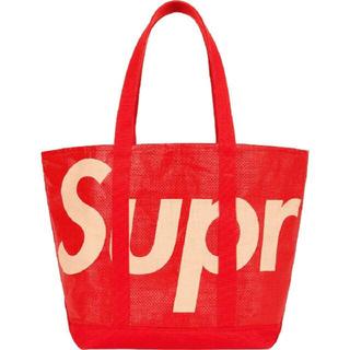 シュプリーム(Supreme)のSupreme Raffia Tote  シュプリーム トートバッグ  レッド(トートバッグ)