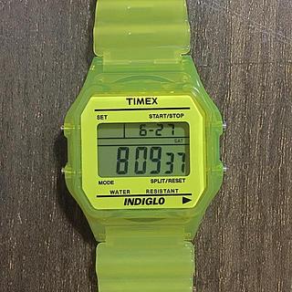 タイメックス(TIMEX)のTIMEX skeleton yellow INDIGLO 腕時計(腕時計(デジタル))
