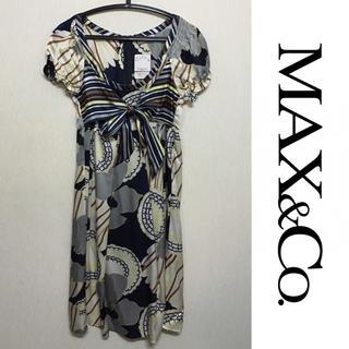 マックスアンドコー(Max & Co.)のMAX&Co. ドレス マックスアンドコー 新品 ワンピース シルク 総柄(ひざ丈ワンピース)