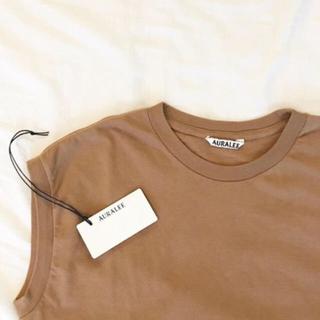 デミルクスビームス(Demi-Luxe BEAMS)のAURALEE スリーブレスクルーネックTシャツ(Tシャツ(半袖/袖なし))