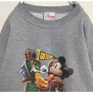ディズニー(Disney)のウォルトディズニー スウェット トレーナー ミッキーマウス 古着女子 ゆるだぼ。(スウェット)