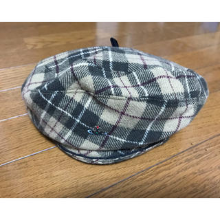 ヴィヴィアンウエストウッド(Vivienne Westwood)のヴィヴィアンウエストウッド チェック柄 ベレー帽(ハンチング/ベレー帽)