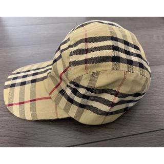バーバリー(BURBERRY)の美品 バーバリーチェック キャップ 帽子(キャップ)