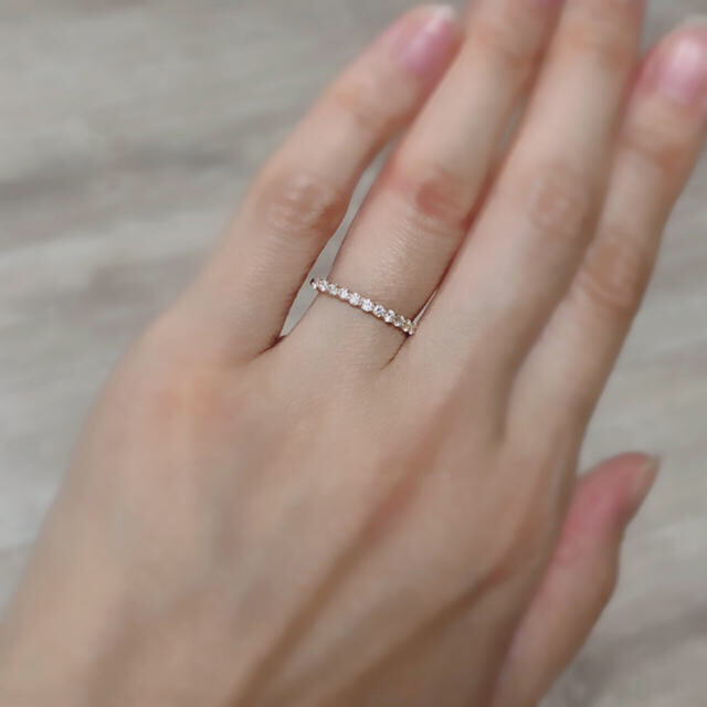 Vendome Aoyama(ヴァンドームアオヤマ)のヴァンドーム青山 K18YG 0.25ct ダイヤ ハーフエタニティ リング  レディースのアクセサリー(リング(指輪))の商品写真