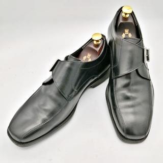 ホーキンス(HAWKINS)のHawkins ホーキンス 革靴 HB80098 26.5cm 黒 モンク(ドレス/ビジネス)
