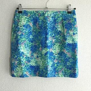アーバンリサーチ(URBAN RESEARCH)のフラワースカート(ミニスカート)