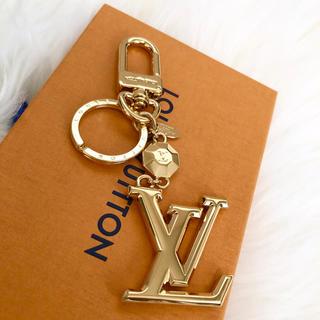 ルイヴィトン(LOUIS VUITTON)の極美品★ルイヴィトン ポルトクレ・ファセット LVキーリング (キーホルダー)