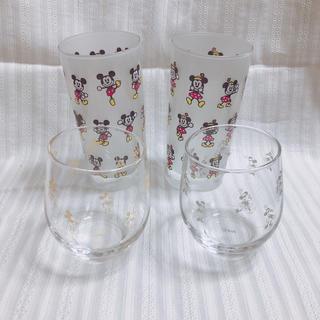 フランフラン(Francfranc)の❤︎未使用❤︎ Disney/ミッキー&ミニーのペアグラス2組セット(非売品)(グラス/カップ)