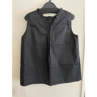 クイーンズコート(QUEENS COURT)のクイーンズコート ブラック トップス (カットソー(半袖/袖なし))