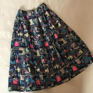 merlot - 【Fillil/フィリル】ボタニカルプラントプリント裏地付きロングスカート