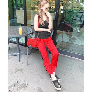Rady - Rady 新品 サイドラインパンツ M レッド 赤×ブラック