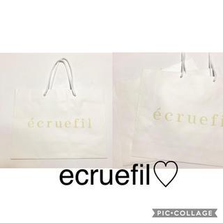 エクリュフィル(ecruefil)のecruefil☆ショップ袋(ショップ袋)
