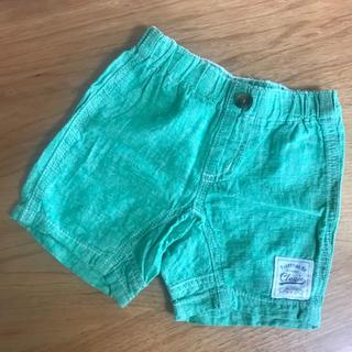 ショートパンツ 綿麻 80 緑(パンツ)