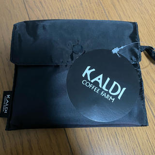 カルディ(KALDI)のKALDI エコバッグ ブラック   (エコバッグ)