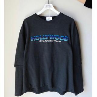 DAIRIKU 20-21aw HOLLYWOOD layeredT-shirt(Tシャツ/カットソー(七分/長袖))
