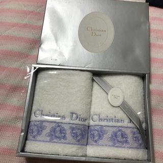 クリスチャンディオール(Christian Dior)のクリスチャン ディオールchristian diorウォッシュタオル2枚 新品(タオル/バス用品)
