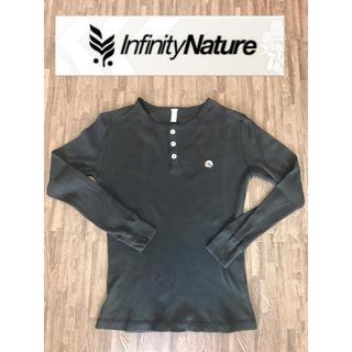 インフィニティ(Infinity)の【infinity  NATURE】ロンT 黒 Mサイズ(Tシャツ(長袖/七分))