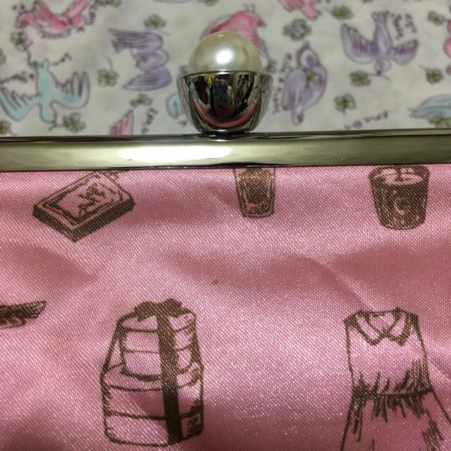 Maison de FLEUR(メゾンドフルール)のFLEUR ピンクのがま口ポーチ♡ レディースのファッション小物(ポーチ)の商品写真
