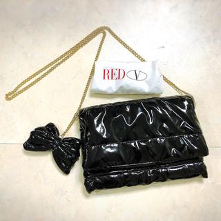 レッドヴァレンティノ(RED VALENTINO)のレッドヴァレンティノ VALENTINO チェーン ショルダーバッグ 黒(ショルダーバッグ)