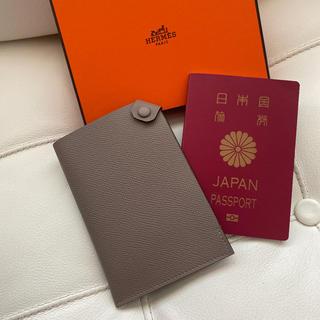 エルメス(Hermes)の【新品未使用】エルメス タルマックPM トゥルティエールグレー パスポートケース(旅行用品)