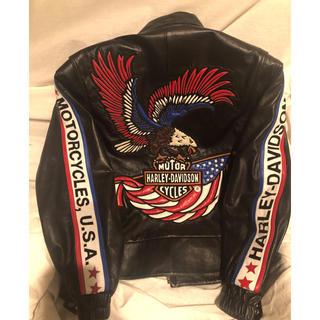 ハーレーダビッドソン(Harley Davidson)のHARLEY-DAVIDSON ハーレーダビットソンレザージャケット羊革(ライダースジャケット)