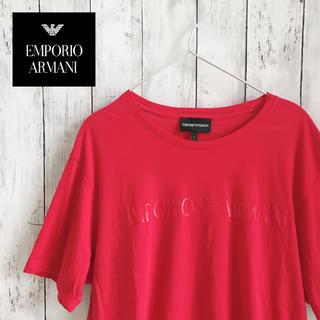 エンポリオアルマーニ(Emporio Armani)のエンポリオアルマーニ Tシャツ レッド  EMPORIO ARMANI(Tシャツ/カットソー(半袖/袖なし))