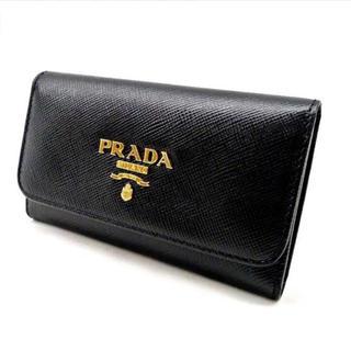 PRADA - 美品 プラダ PRADA   キーケース ブラック レディース メンズr