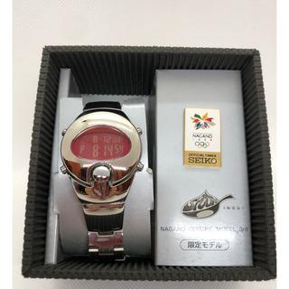 アルバ(ALBA)の貴重!ALBA スプーン 長野オリンピック限定 未使用 電池交換済 完動品(腕時計(アナログ))