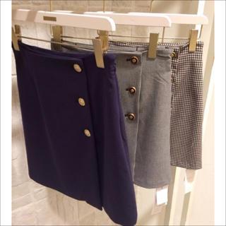 スナイデル(snidel)のsnidel ボタン付 ボックス スカート♡マーキュリーデュオ Noela(ミニスカート)