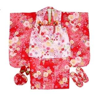 七五三 女の子 3歳 着物 8点セット(和服/着物)