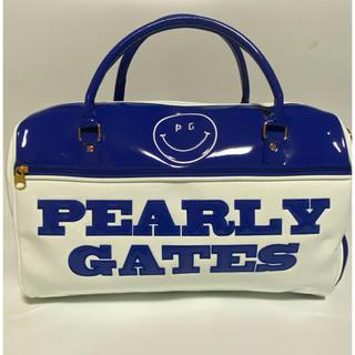 PEARLY GATES - パーリーゲイツ PEARLEY GATES ゴルフ ボストンバッグ 白/青