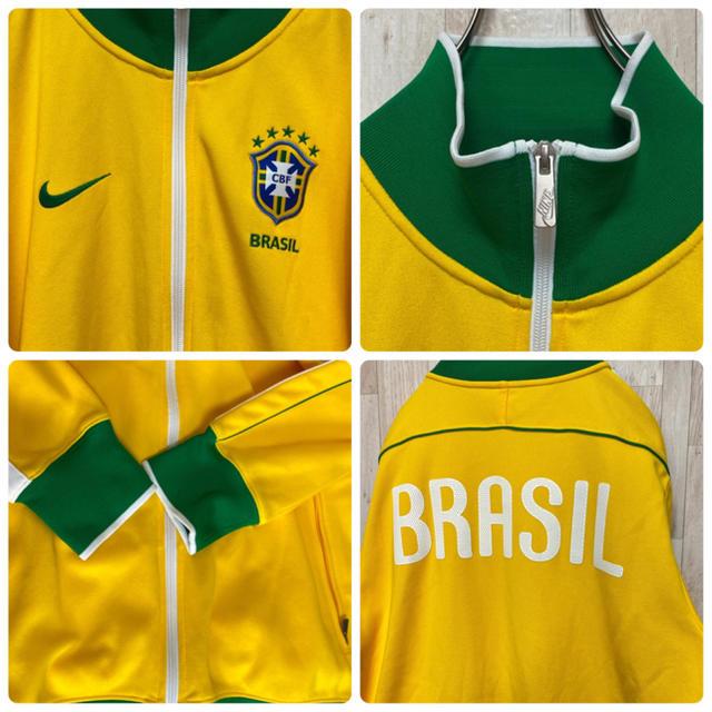 NIKE(ナイキ)の【NIKE】サッカーブラジル代表*刺繍ワンポイント*トラックジャケット メンズのトップス(ジャージ)の商品写真