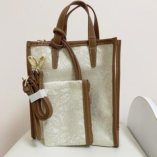 しまむら - しまむら ペイズリー柄 バッグ 2way 刺繍 ショルダー
