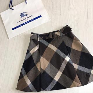 良品☆バーバリーブルーレーベル チェック柄 スカート 36サイズ