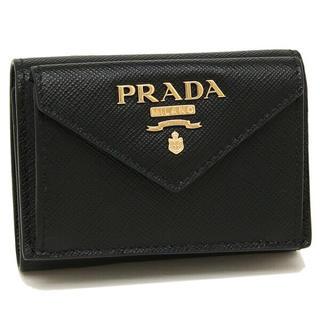 プラダ(PRADA)の新品未使用 NERO  プラダ 三つ折り財布 新作 PRADA レディースr(折り財布)