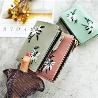 二つ折り財布 コンパクト オシャレ 5色(折り財布)