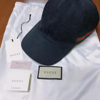 グッチ(Gucci)の大人気🎶GUCCI❤グッチ 黒キャップ💚(キャップ)