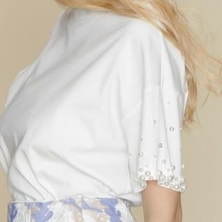 グレースコンチネンタル(GRACE CONTINENTAL)の専用です🌹グレースコンチネンタルパールビジュートップス(Tシャツ(半袖/袖なし))